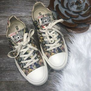 Converse Floral Sneakers Womens 6.5 Laces